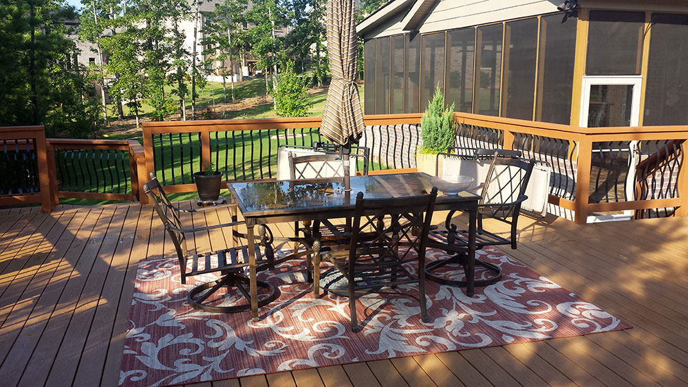 New Deck and Covered Screen in Patio